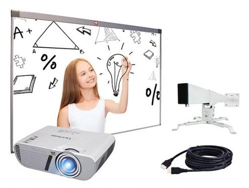 Zestaw: Tablica interaktywna AVTek TT-Board 80 + Vivitek DX881-ST + uchwyt WM1200