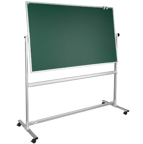 Tablica szkolna obrotowa zielona 2x3 lakierowana 170 x 100 cm