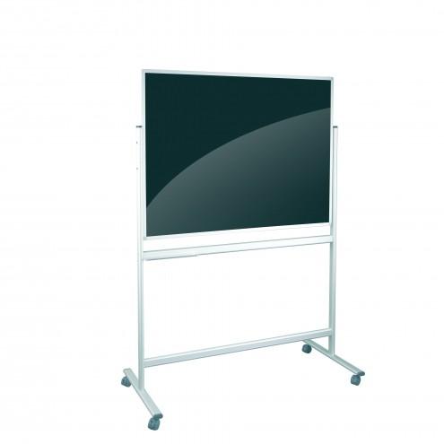 Tablica mobilna szklana czarno/ biała 120x90 magnetycza - PROMOCJA ISP2018