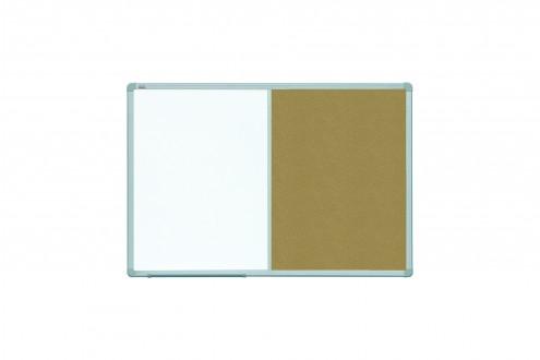 Tablica COMBI officeBoard suchościeralno-magnetyczna+korkowa  90 x 60