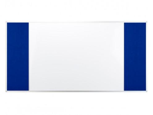 Tablica COMBI officeBoard 3-częściowa suchościeralno-magnetyczna+tekstylna 120 x 90